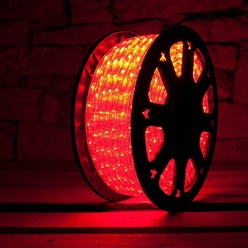 decoLED LED Licht schlauch - rot, 50m, decoLED