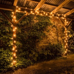 LED Lichterkette 80er warmweiß mit Flash, 8m, Eco Fix