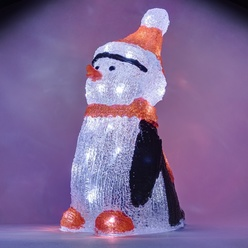 decoLED Weihnachten pinguin - 36cm, 30 LED, decoLED