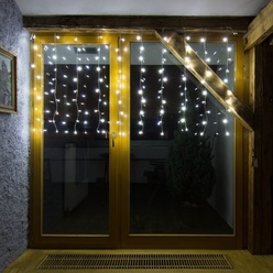 decoLED LED Lichtvorhang HOBBY LINIE, 2x2m, warmes Weiß, 200 Dioden, decoLED
