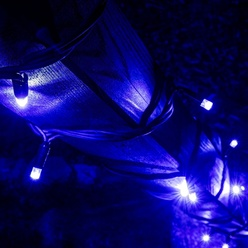 decoLED-Lichterkette 5m, IP67, blau, 50 Dioden